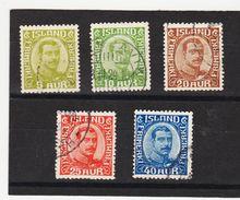 MAG1404  ISLAND 1921  Michl 99/102 Mit WZ 3 Used / Gestempelt  ZÄHNUNG Siehe ABBILDUNG - 1918-1944 Unabhängige Verwaltung