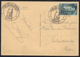 """Cachet """"Voie De La Liberté"""" Metz 1947 Sur Cp. - Marcophilie (Lettres)"""