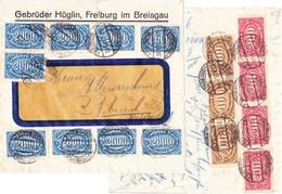 Freiburg 1923, Gebr. Hüglin, Brief Inflation - Ganzsachen