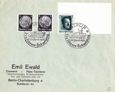 Berlin 1937, Emil Ewald, Brief Sonderstempel Geburtstag Hitler - Ganzsachen