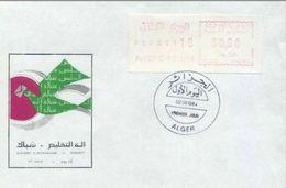 FDC Algérie  Algérie - 1984  - AFFRANCHISSEMENT AUTOMATIQUE 0.80 - Algeria (1962-...)