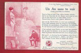 MILITARIA - GUERRE 1914-18 - ILLUSTRATEUR - LETTRE D'UN POILU À SA FEMME - UN AN SANS TE VOIR -CARTES SONNETS ILLUSTREES - Guerre 1914-18