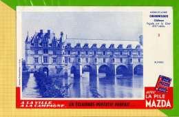 BUVARD & Blotting Paper : Piles MAZDA Vue Aerienne N°3 INDRE Et LOIRE CHENONCEAUX - Accumulators