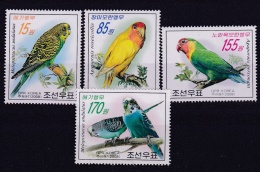COREE DU NORD   DPR KOREA  :   Yvert  3682 à 3685  Neuf XX Luxe MNH   Perroquets - Corée Du Nord
