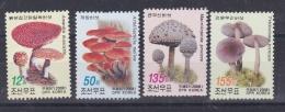COREE DU NORD   DPR KOREA  :   Yvert     3711 à 3714   Neuf XX Luxe MNH   Champignons - Corée Du Nord