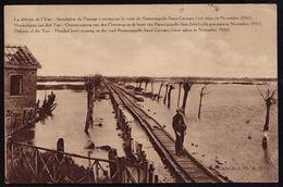 La Défense De L'Yser - Inondation Du Passage à Niveau Sur La Route Ramscappelle - Saint-Georges -- Novembre 1916 - Guerre 1914-18