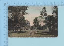 Berlin Ontario Canada -  In Victoria Park, Valentine & Sons - 2 Scans - Non Classés