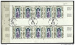 ANDORRA CORREO FRANCES 10 SERIES MATASELLADAS Nº 228 (C.H.C.11.16) - Hojas Bloque