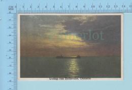 Belleville  Ontario Canada  - Greetings From Belleville , Boat - 2 Scans - Souvenir De...
