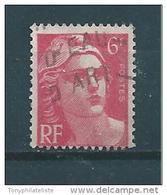 France Type Marianne De Gandon  N°721a    (mèches Reliées)   Oblitéré - 1945-54 Marianna Di Gandon