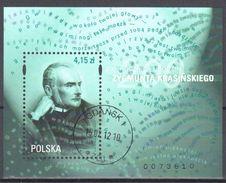 Poland 2012 - Zygmunt Krasiński - Mi.m/s 204 - Used - Gestempelt - Blocs & Hojas