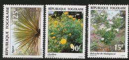 1995 Togo Togolaise Flowers Fleurs Complete Set Of 3 MNH - Togo (1960-...)