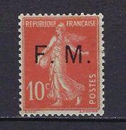"""FR Franchise YT 5 """" Semeuse Camée 10c. Rouge """" 1906-07 Neuf* - Franchise Militaire (timbres)"""
