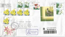 Lettre Recommandée De Lettonie 2017, Adressée ANDORRA, Avec Timbre à Date Arrivée - Latvia