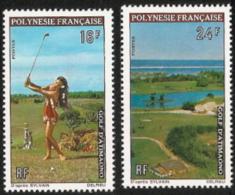 Fr Polynesia,  Scott 2017 # 275-276,  Issued 1974,  Set Of 2,  MNH,  Cat $ 19.00,  Golf - French Polynesia
