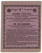 Ecole D'Autrefois C1867 ! Méthode D'écriture Méthodologie De M. De Coster - Ch. De Jaeger Calligraphe De S.M. Le Roi - Buvards, Protège-cahiers Illustrés