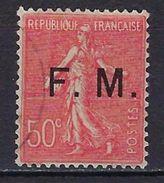 """FR Franchise YT 6 """" Semeuse Lignée 50c. Rouge """" 1929 Oblitéré - Franchise Militaire (timbres)"""