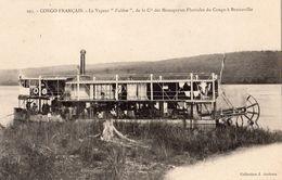 """CONGO FRANCAIS LE VAPEUR """"VALERIE"""" DE LA CIE DES MESSAGERIES FLUVIALES DU CONGO A BRAZZAVILLE - French Congo - Other"""