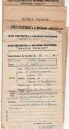 VP10.809 - PARIS - Ecole D'Electricité & De Mécanique Industrielles - Ecole VIOLET - 11 Bulletins Scolaires - Elève ALLO - Diplômes & Bulletins Scolaires