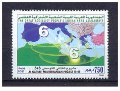 2008- Libya- Libye- Al Guaddafi Mediterranean Project 6+6/ Map/ Complete Set 1v. MNH** - Libia