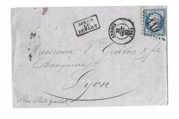 HTE SAVOIE ( 89 )  « ANNECY » L.S.I. - 10gr. - Tarif à 20c. (1.1.1862/31.8.1871) N°22  -  20c. Empire Dentelé - Storia Postale