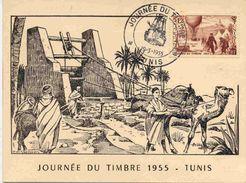 Carte De La Journée Du Timbre En 1955 - Briefe U. Dokumente