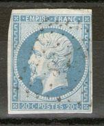 N°14-If°_Laiteux (bleu-vert) - 1853-1860 Napoléon III.
