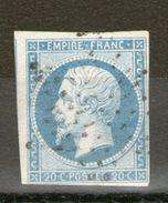 N°14 Type 1-f_Bleu Laiteux_cote 15.00 - 1853-1860 Napoléon III.