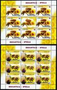 Macedonia 2017 Ecology, Fauna, Insects, Honeybees, Bee, Sunflower, Flowers, Mini Sheet MNH - Honeybees