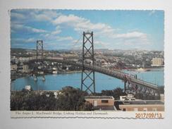Postcard The Angus L MacDonald Bridge Linking Halifax And Dartmouth Nova Scotia PU 1976 My Ref B21892 - Halifax