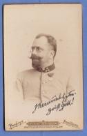 Foto HAUPTMANN IN SCHÖNER UNIFORM Mit Orden, Um 1900, Goldprägung, Atelier Fotograf Fink Sandor In Poszsony Pressburg - Krieg, Militär