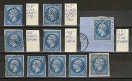 Lot De  N°14° Type 2__cote 60.00 - 1853-1860 Napoleon III