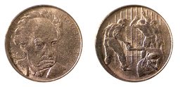 03821 GETTONE TOKEN JETON FICHA COMMEMORATIVE NOBEL PRIZE GERHART HAUPTMANN TOKEN - Allemagne