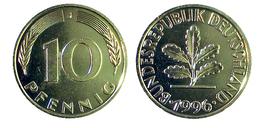 02814 GETTONE TOKEN JETON FICHA COMMEMORATIVE REPRO COIN 10 PFENNING GOLDED - Allemagne
