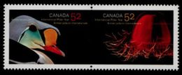CANADA  2007,  2205a,  INTERNATIONAL POLAR YEAR   JELLY FISH & MALE KING E   PAIR MNH - Blocs-feuillets