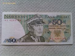 Billete Polonia. 50 Zlotich. 1988 - Polonia