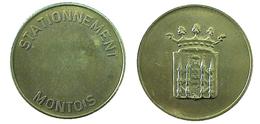 03337 GETTONE TOKEN JETON FICHA BELGIUM PARKING METER STATIONNEMENT MONTOIS - Unclassified