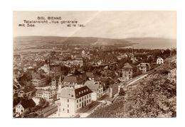 Suisse: Biel Bienne, Totalansicht Mit See (17-1685) - BE Berne