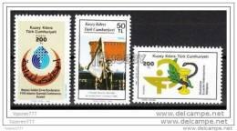 TRNC (Mi-211/13) 1987 NORTHERN CYPRUS ANNIVERSARIES AND EVENTS PHARMACIST ISLAMIC SUMMIT MNH** - Zypern (Türkei)