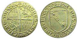 04266 GETTONE TOKEN JETON FICHA REPRO COIN DOBLA DE LA BANDA CASTILE & LEON XV° SEC. - Spain