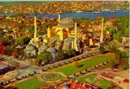 Istanbul - Aya Sfya Nin Havadan Gorunusu - Saint Sophia Museum - 390 - Formato Grande Non Viaggiata – Ar - Turquie