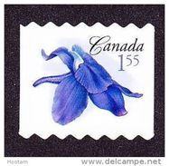 CANADA, 2006, #2197ii, DIE CUT TO SHAPE  FROM QUARTELY PACK: Little Larkspur   Blue Flower MNH - Roulettes