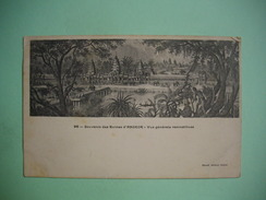 ANGKOR  -  Souvenir Des Ruines D'Angkor - Vue Générale Reconstituée  -    N° 96  -  Cambodge - Cambodia