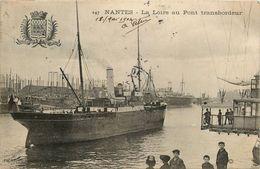 NANTES - LA LOIRE AU PONT TRANSBORDEUR - BLASON - BATEAU A VAPEUR - ANIMATION - Nantes