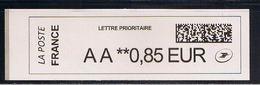 ATM, BROTHER, AA 0.85€. NOUVEAU PAPIER BLANC LARGE 112/30, AVEC CODE DATAMATRIX ET PREFIXES. - 2010-... Viñetas De Franqueo Illustradas