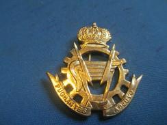 Insigne à épingle/ Belgique/Armée Belge Logistique /Pugnentes Adjuvo / Mi-XXéme Siécle      MED180 - Medaillen & Ehrenzeichen