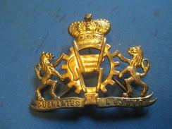 Insigne à épingle/ Belgique/Armée Belge Logistique /Pugnentes Adjuvo / Mi-XXéme Siécle      MED181 - Medaillen & Ehrenzeichen