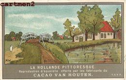 PUBLICITE CACAO VAN HOUTEN PAYS-BAS NEDERLAND HOLLANDE ILLUSTRATEUR M.W. - Reclame