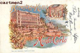 MONTE-CARLO HERMITAGE HOTEL PUBLICITE MONACO - Monaco