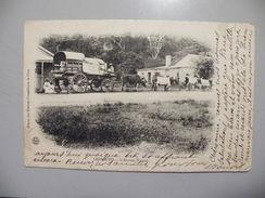 A440. CPA. AFRIQUE.ZAMBIE. LESSOUTO. L'Ancien Wagon.  Beau Plan Animé .ecrite & Voyagée 1912 - Zambie